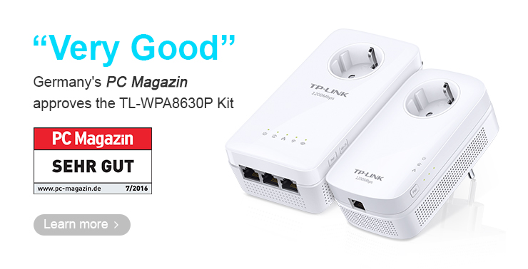 """Germany's PC Magazine approves the TL-WPA8630P KIT: """"Very ..."""