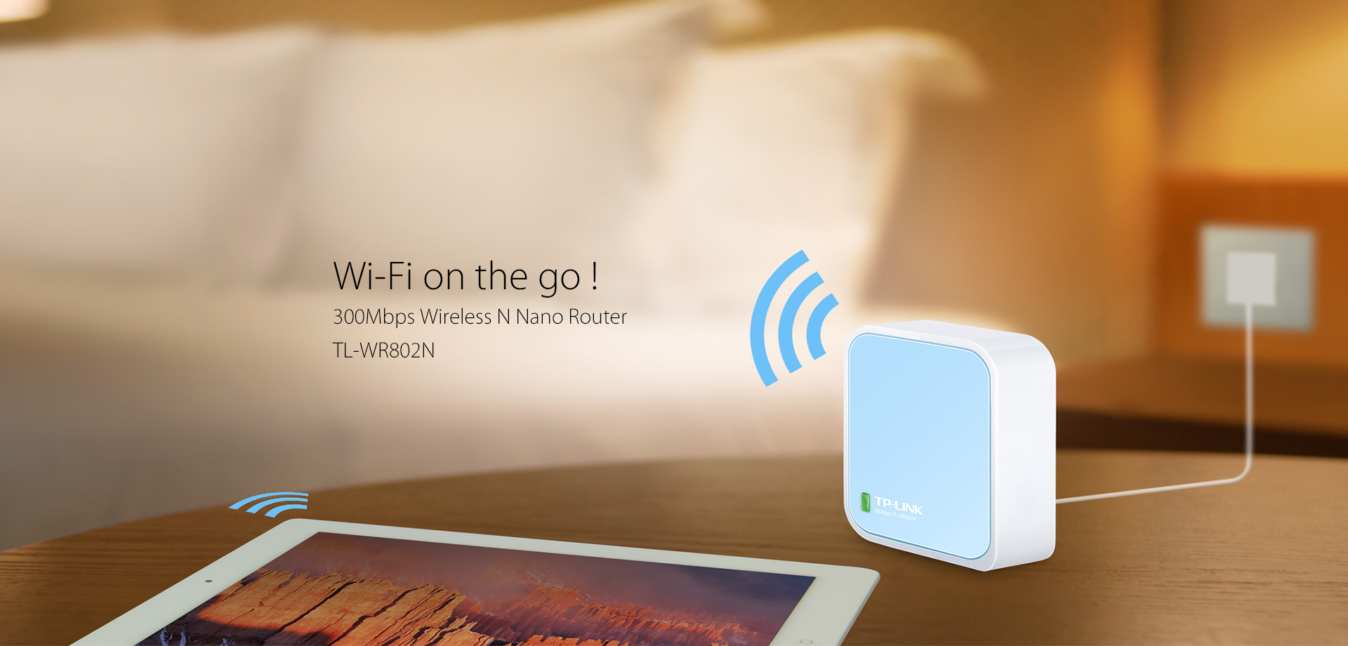 WiFi AP - Router : TP-LINK TL-WR802N V4 300Mbps Wireless N Nano Router