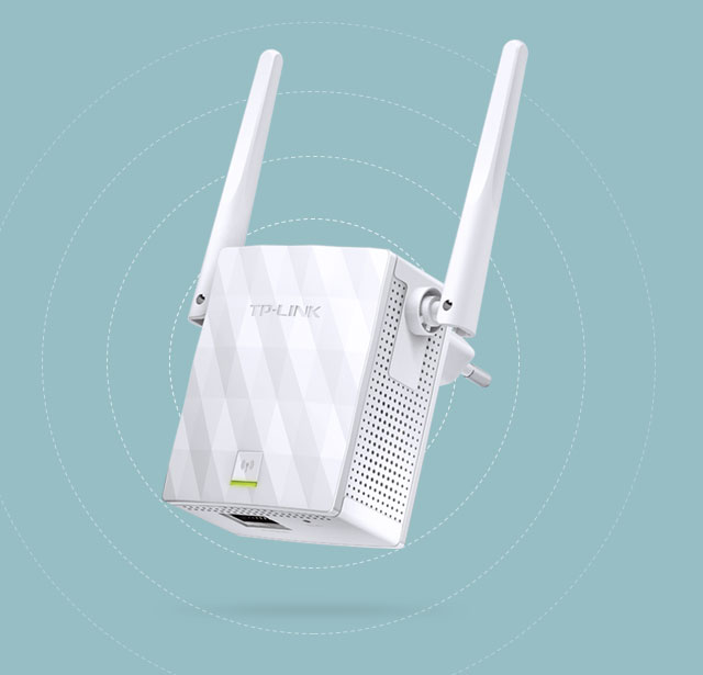 Image result for As Powerful As You Expect The two external antennas with MIMO technology help set the TL-WA855RE apart from the rest. MIMO technology enhances your network by dramatically increasing wireless speeds and the two external antennas ensure that a stable wireless signal reaches you where you need it most.