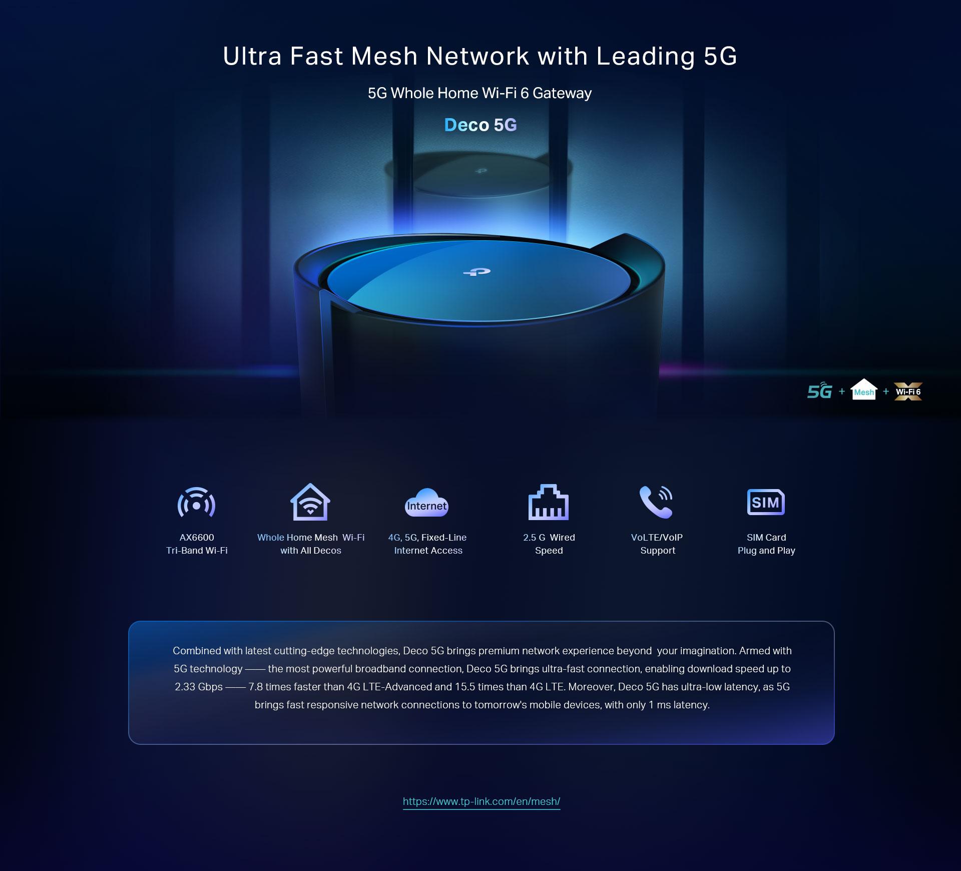 Deco A Tous Les Etages deco 5g   système 5g + wifi 6 mesh pour toute maison   tp