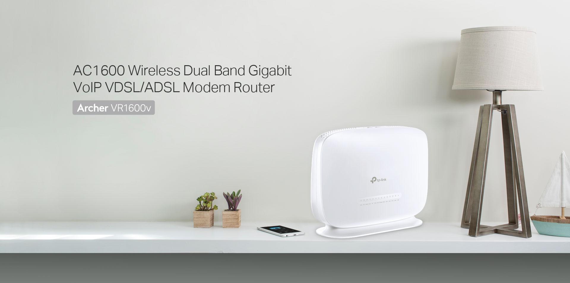 Archer VR1600v | AC1600 Wireless Dual Band Gigabit VoIP VDSL/ADSL