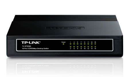 16-Port 10/100Mbps Desktop Switch TL-SF1016D - Welcome to TP-LINK